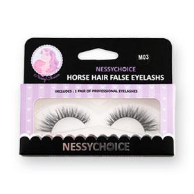 NessyChoice Horse Hair False EyeLashs 1pairs #M03