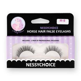 NessyChoice Horse Hair False EyeLashs 1pairs #M-B