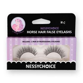 NessyChoice Horse Hair False EyeLashs 1pairs #M-C