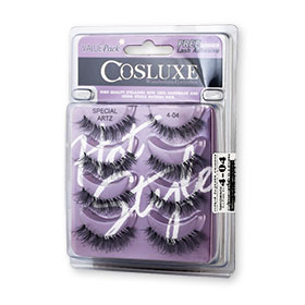 Cosluxe Wanderlust Eyelashes With Free Lash Adhesive Pack 4pairs #Special Artz 4-04