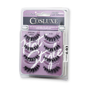 Cosluxe Wanderlust Eyelashes With Free Lash Adhesive Pack 4pairs #Special Artz 4-03