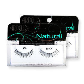 แพ็คคู่ Ardell Fashion Lashes#108 Black