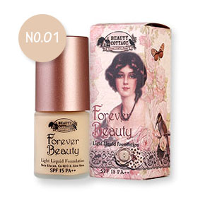 Beauty Cottage Forever Beauty Light Liquid Foundation SPF15 PA++ 20ml #No 01 Creamy Ivory