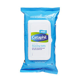Cetaphil Gentle Skin Cleansing Cloths Soft And Gentle For Sensitive Skin 25 Disposable Cloths