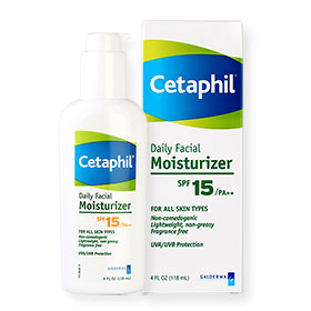 Cetaphil Daily Facial Moisturizer For All Skin Types SPF15/PA++ UVA/UVB Protection 118ml