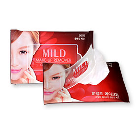แพ็คคู่ Mild Make-Up Remover Cleansing Tissues (10sheets x 2pack)