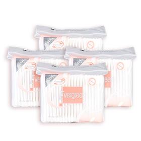 แพ็คคู่ Evergreen Cotton Bud (100pcs x 4pack)(สินค้านี้ไม่ร่วมรายการซื้อ 2 ชิ้นฟรีค่าจัดส่ง)
