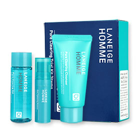 Laneige Homme Pore Clearing Trial Kit 3 Items