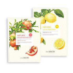 The Saem Whitening and Brightening Mask Set 2 Sheets( Lemon and Pomegranate)(สินค้านี้ไม่ร่วมรายการซื้อ 2 ชิ้นฟรีค่าจัดส่ง)