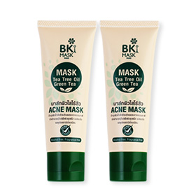ซื้อ 1 แถม 1 BK Mask Acne Mask Tea Tree Oil Green Tea (30gx2pcs)