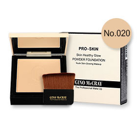 Beauty Buffet GINO McCRAY The Professional Makeup Skin Healthy Glow Powder Foundation 9g #No.020 Warm Natural