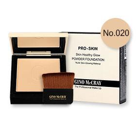 Beauty Buffet GINO McCRAY The Professional Makeup Skin Healthy Glow Powder Foundation 9g #No.020 Warm Natural