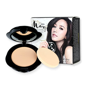 Mistine May Flowers Triple Cover Powder SPF 25 PA++ 10g #S1 ผิวขาว