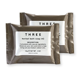 แพ็คคู่ THREE Herbal Bath Soap Ac (10gx2pcs)