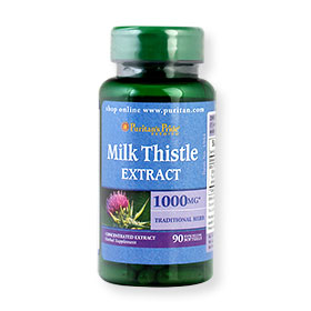 Puritan's Pride Milk Thistle Extract 1000mg Traditional Herb 90 Softgels