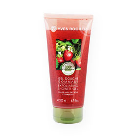 Yves Rocher Exfoliating Shower Gel Fraise Mara Des Bois Strawberry 200ml