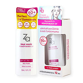 Za True White EX Power Block UV SPF50+ PA++++ For  Face & Body 50ml #40596