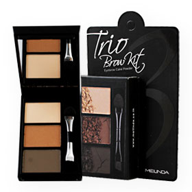 Mei Linda Trio Brow Kit #No.2 Dark Brown 3g
