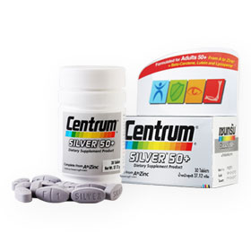 Centrum Silver 50+ Dietary Supplement Product Complete From A To Zinc 30 Tablets