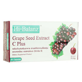 Hi-Balanz Grape Seed Extract C Plus  30Capsules