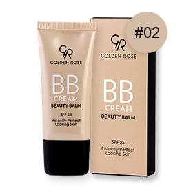 Golden Rose BB Cream Beauty Balm SPF25 30ml #02 Fair