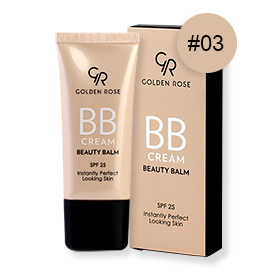 Golden Rose BB Cream Beauty Balm SPF25 30ml #03 Natural