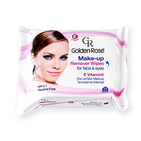 Golden Rose Make-Up Remover Wipes For Face & Eyes 25sheets (หมดอายุ 2017.12.1)