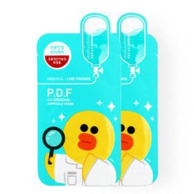 แพ็คคู่ Mediheal | Line Friends P.D.F A.C Dressing Ampoule Mask (27gx2pcs)