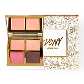 Pony Memebox Shine Easy Glam 3 Eyeshadow Quad #02 Pink Bloom