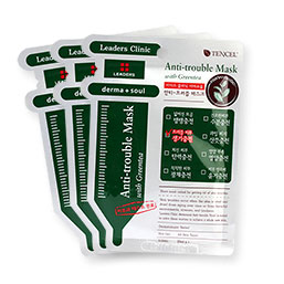 Leaders Clinic Anti-Trouble Mask With Greentea Set 3 Sheets