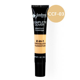 Jordana 2-IN-1 Concealer & Foundation 30g #CCF-03 Golden Beige