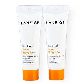 แพ็คคู่ Laneige Sun Block Apua+ SPF35 PA++ (10mlx2pcs)