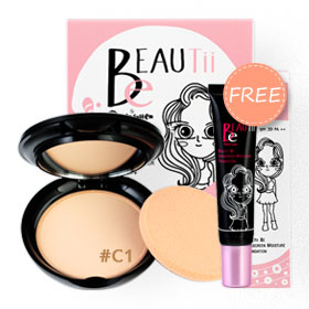 Beautii Be Ultimate Powder  SPF30 PA++ 9g #C1 (Free! Sunscreen Moisture Foundation  SPF30 PA++ 15g)