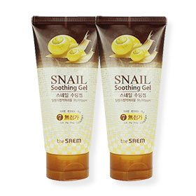 แพ็คคู่ The Saem Snail Soothing Gel (120mlx2)