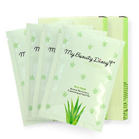 แพ็คคู่ My Beauty Diary Aloe Mask (2pcs×2)