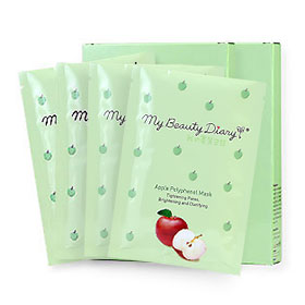 แพ็คคู่ My Beauty Diary Apple Polyphenol Mask (2pcs×2)