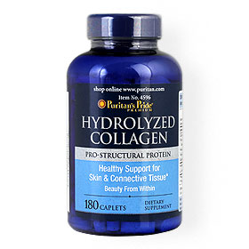 Puritan's Pride Hydrolyzed Collagen Pro-Structural Protein 180Caplets