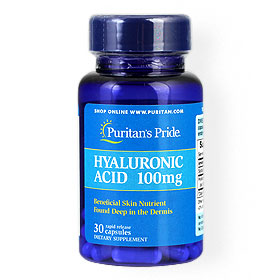 Puritan's Pride Hyaluronic Acid 100mg 30Capsules