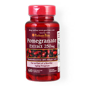 Puritan's Pride Pomegranate Extract 250mg 60Capsules