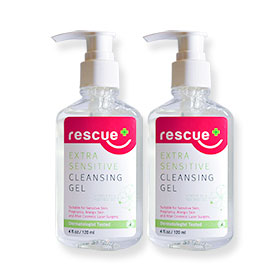 แพ็คคู่ Rescue Extra Sensitive Cleansing Gel (120ml×2)