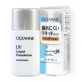 Cezanne UV Liquid Foundation Water Proof SPF26/PA++ 30ml #10 Bright