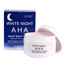 Beauty Buffet Lansley AHA White Night Body Cream 250ml