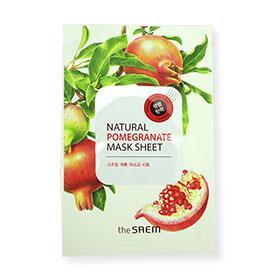 The Saem Natural Pomegranate Mask Sheet 1pcs(สินค้านี้ไม่ร่วมรายการซื้อ 2 ชิ้นฟรีค่าจัดส่ง)