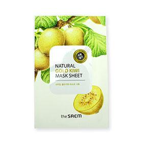 The Saem Natural Gold Kiwi Mask Sheet 1pcs(สินค้านี้ไม่ร่วมรายการซื้อ 2 ชิ้นฟรีค่าจัดส่ง)