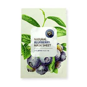 The Saem Natural Blueberry Mask Sheet 1pcs(สินค้านี้ไม่ร่วมรายการซื้อ 2 ชิ้นฟรีค่าจัดส่ง)