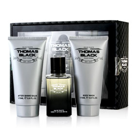 Laurelle Thomas Black Pour Homme Set 3 Items