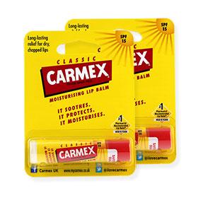 แพ็คคู่ Carmex Moisturizing Lip Balm SPF15 #Classic (4.25gx2)