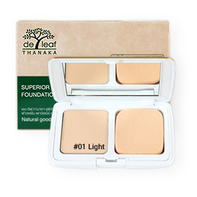 De Leaf Thanaka Superior Natural Cover Foundation Powder 7g #01 Light