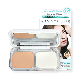 Maybelline White Superfresh UV Whitening Long-Lasting Two Way Cake SPF34/PA+++ #03 Natural