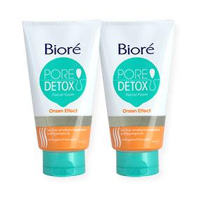 แพ็คคู่ Biore Pore Detox Onsen Effect Facial Foam (100gx2)